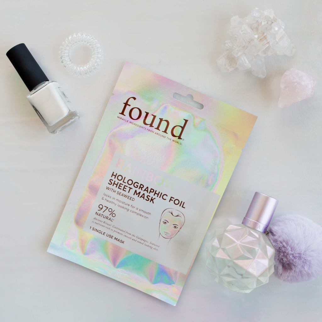RAINBOW HOLOGRAPHIC FOIL SHEET MASK