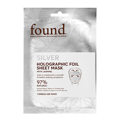 Jasmine Silver Holographic Foil Sheet Mask - Default Title