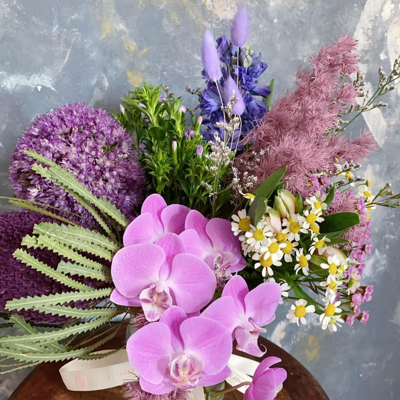 Potpurri in a Vase - Orchid with Mixed Flowers Vase Arrangement - Flourish by Charlene