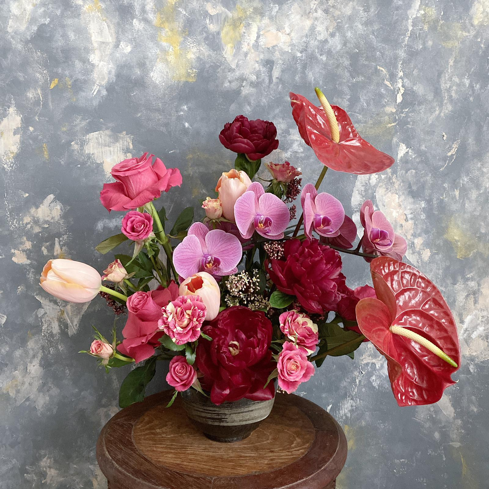 Amour - Table Flower Arrangement - Flourish by Charlene