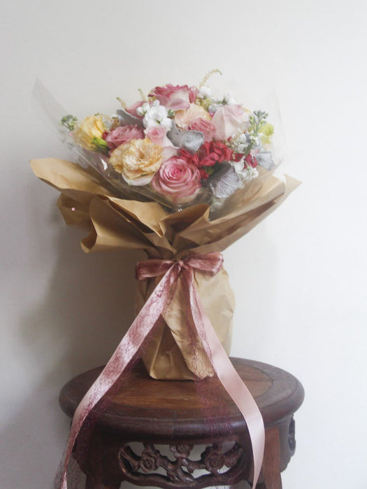 Peaches & Cream - Flower Bouquet - Flourish by Charlene