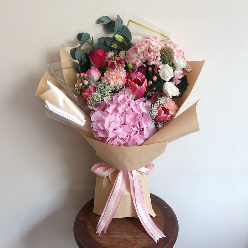 Pink Parade - Pink Hydrangea Flower Bouquet - Flourish by Charlene