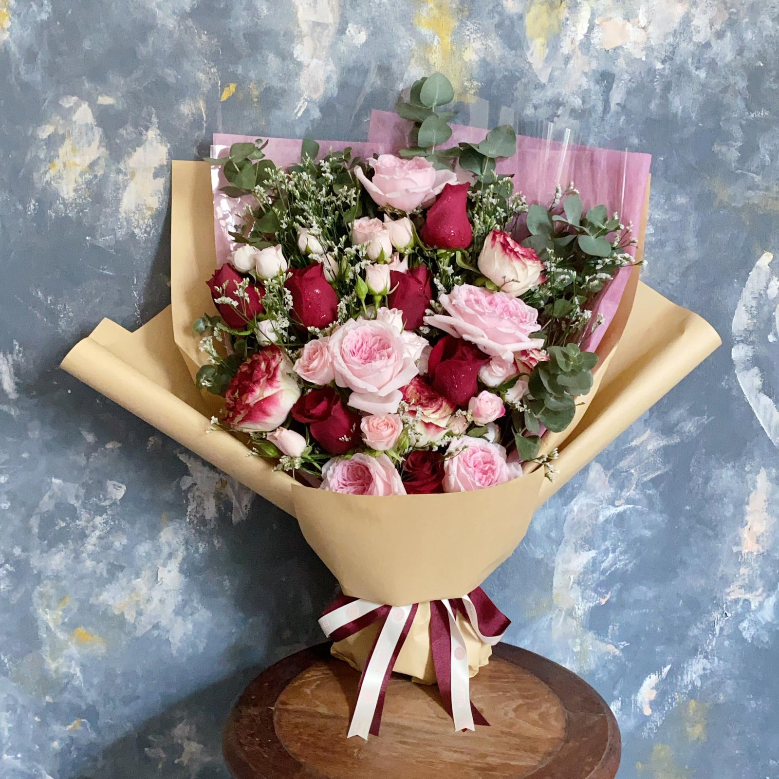 Roses Enmasse - Mixed Rose bouquet - Flourish by Charlene