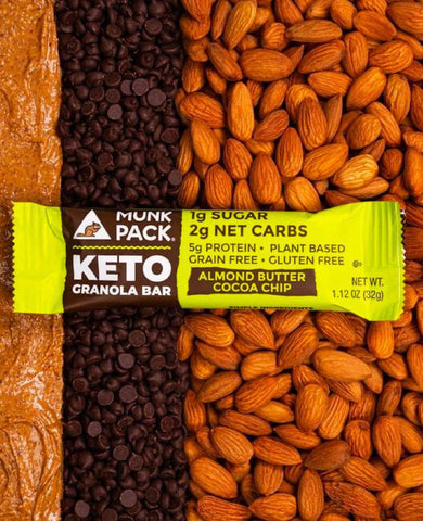 Munk Pack Almond Butter Cocoa Chip Keto Granola Bar