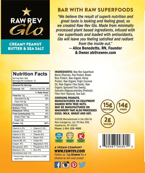 Raw Rev Glo Creamy Peanut Butter & Sea Salt