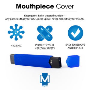 Blue - Majide Ultra Thin Vapor Case Compatible with JUUL | 3-in-1 Protection Technology and Hybrid Drop Protection - Never Lose Your Device Again!