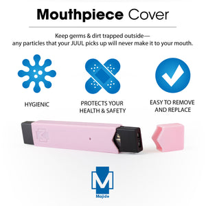 Pink  - Majide Ultra Thin Vapor Case Compatible with JUUL | 3-in-1 Protection Technology and Hybrid Drop Protection - Never Lose Your Device Again!