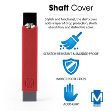 Red - Majide Ultra Thin Vapor Case Compatible with JUUL | 3-in-1 Protection Technology and Hybrid Drop Protection - Never Lose Your Device Again!