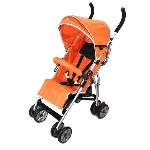 Aussie Baby Light Weight Two Position Layback Stroller - Orange - Aussie Baby