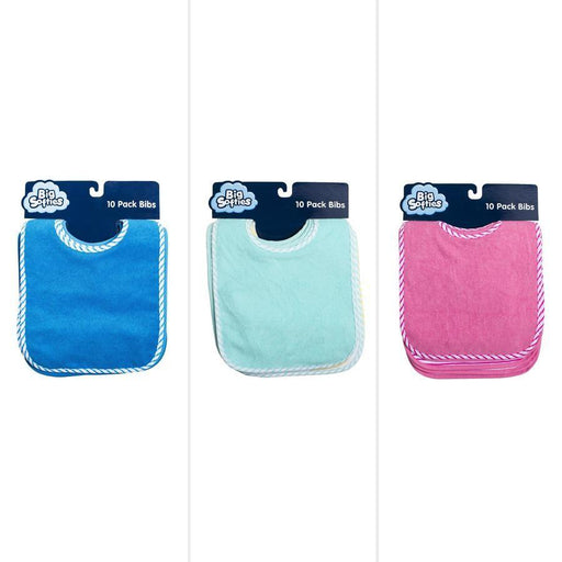 Big Softies Bibs 10 Pack - Assorted - Aussie Baby