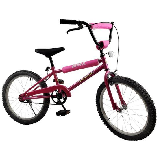 "NANKON Girls 20"" BMX Push Kids Bike - Pink - Aussie Baby"