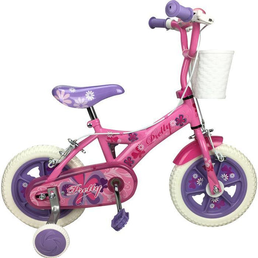 Pink Pretty 12 inch Girl Pavement Cycle Bike with Training Wheel - Aussie Baby