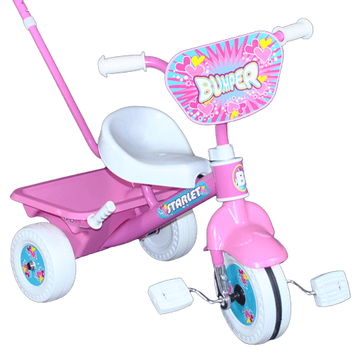 Deluxe Learn 'n' Ride Pink Pedal Tricycle With Push Bar - Aussie Baby