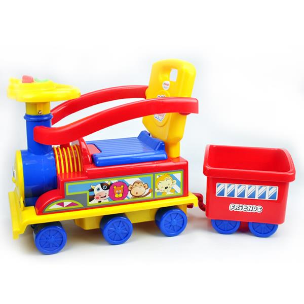Toddler Kids Choo Choo Ride-On Train Toy with Trailer - Red - Aussie Baby
