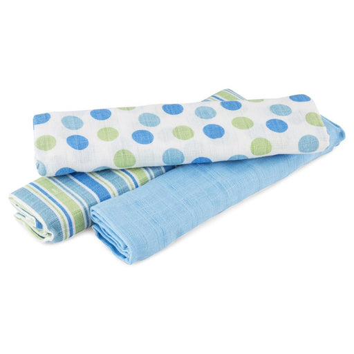 Big Softies Muslin Wraps 3-Pack Blue - Aussie Baby