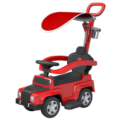 Land Rover Defender-Inspired Kids Ride On Car - Red - Aussie Baby