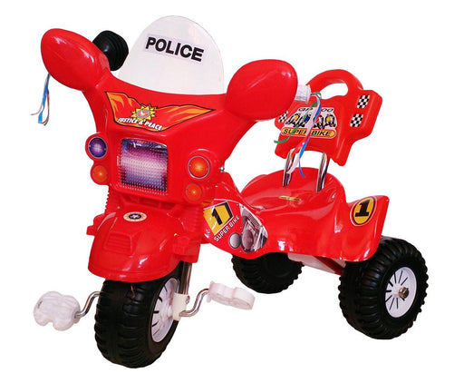 Kids Police Tricycle - Red - Aussie Baby