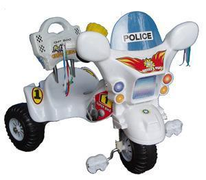 Kids Police Tricycle - White - Aussie Baby