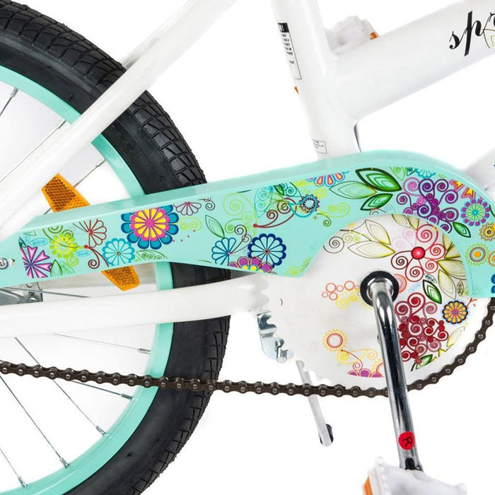Supermax Floral 20 Inch Kids Push Bike - Aquamarine