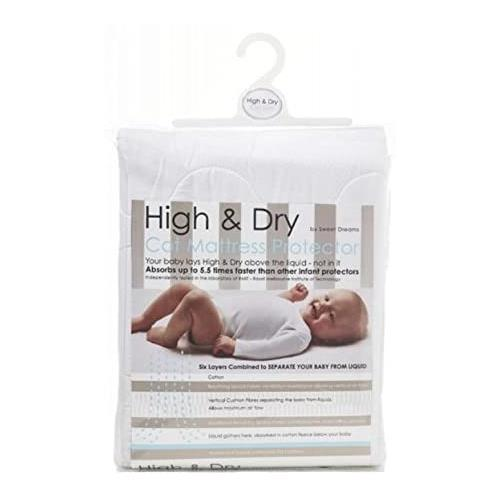 Sweet Dreams High & Dry Cot Mattress Protector, White - Aussie Baby