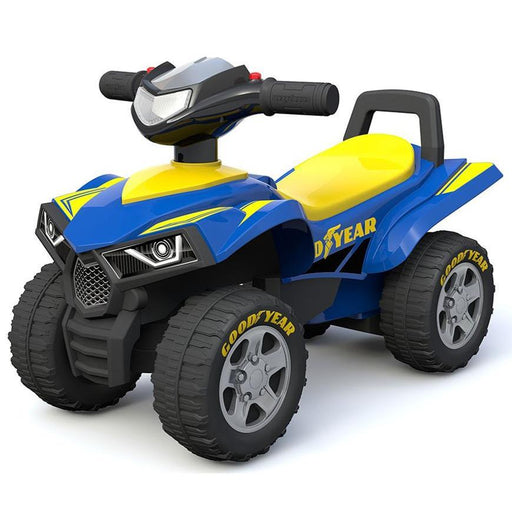 Goodyear Licensed Toddler Kids Sport ATV Ride-On Toy Mini Quad Bike - Blue - Aussie Baby