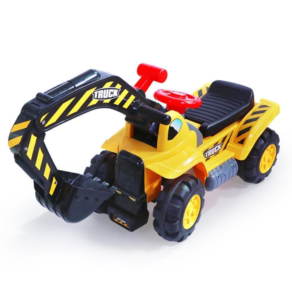 Kids Excavator Digger Ride-On Toy Truck With Sound