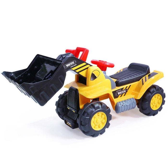 Kids Bulldozer Digger Ride-On Toy Truck With Sound