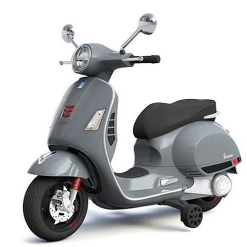 Aussie Baby Vespa Licensed Kids Ride On Motorbike - Grey - Aussie Baby