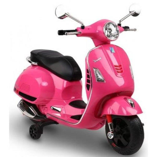 Aussie Baby Vespa Licensed Kids Ride On Motorbike - Pink - Aussie Baby