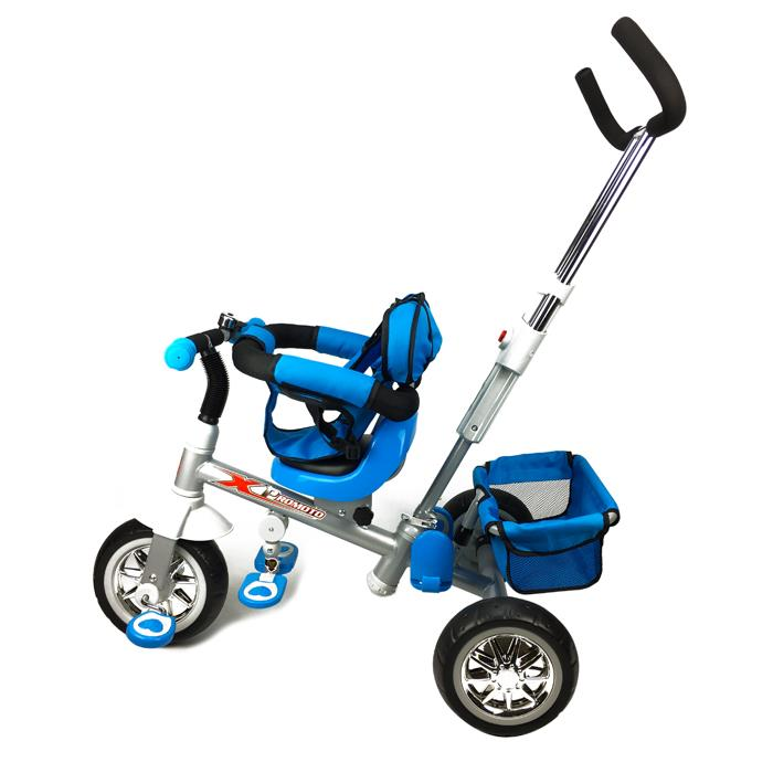 Reverse Seat Kids Baby Toddler Tricycle with Parent Handle - Blue - Aussie Baby