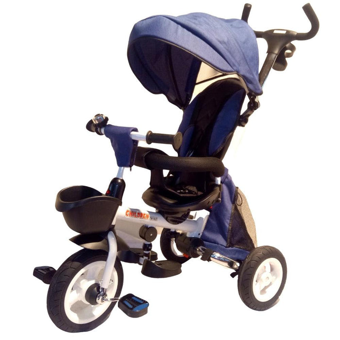 Deluxe Foldable Trike with Parent Control - Blue - Aussie Baby