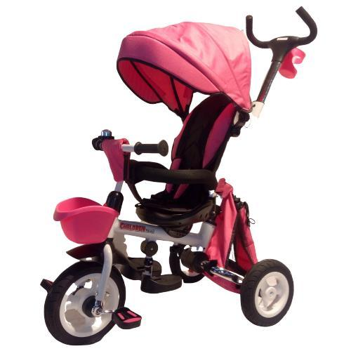 Deluxe Foldable Trike with Parent Control - Pink - Aussie Baby