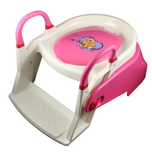 Double Bear 2 Stage Toilet Trainer Potty Seat - Pink - Aussie Baby