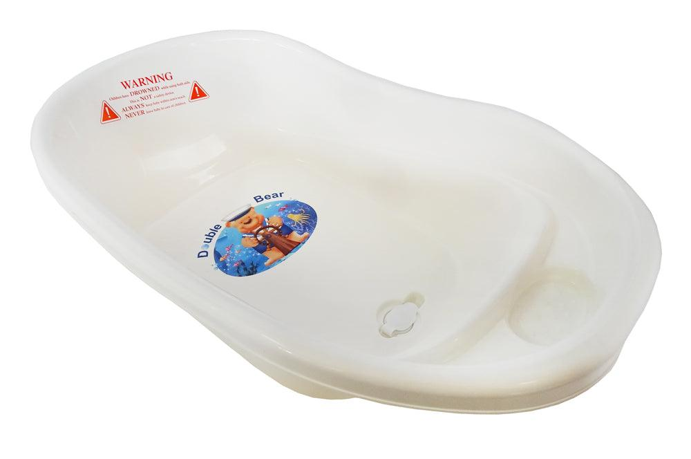 Small Double Bear Bath Tub - White