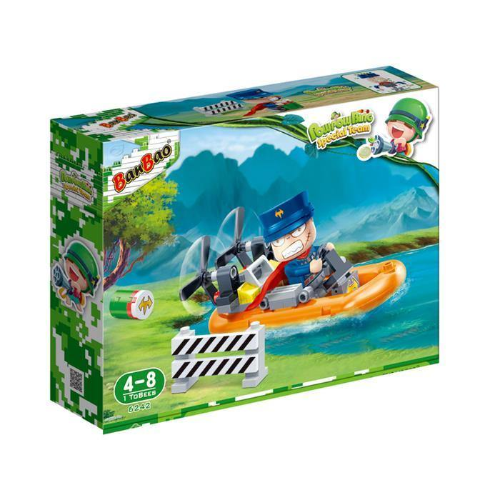 BanBao Cute Military - General Luther Hawk's Runner Ski Boat 6242