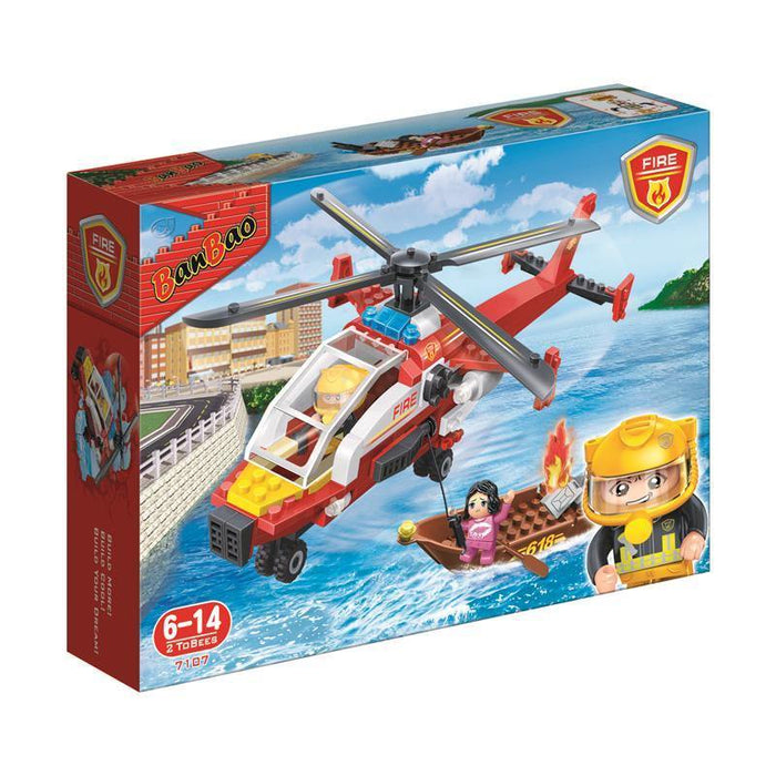 BanBao Fire and Rescue - Fire Air Rescue 7107 - Aussie Baby