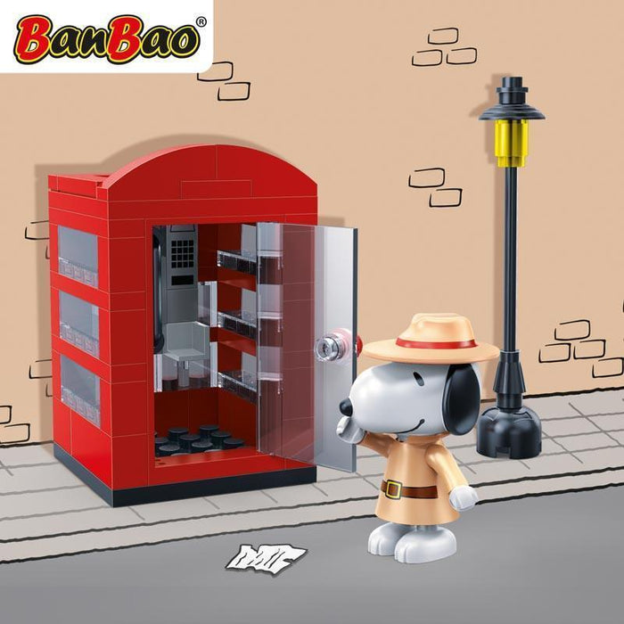 BanBao Peanuts - Agent Snoopy Secret Phone Booth 7528