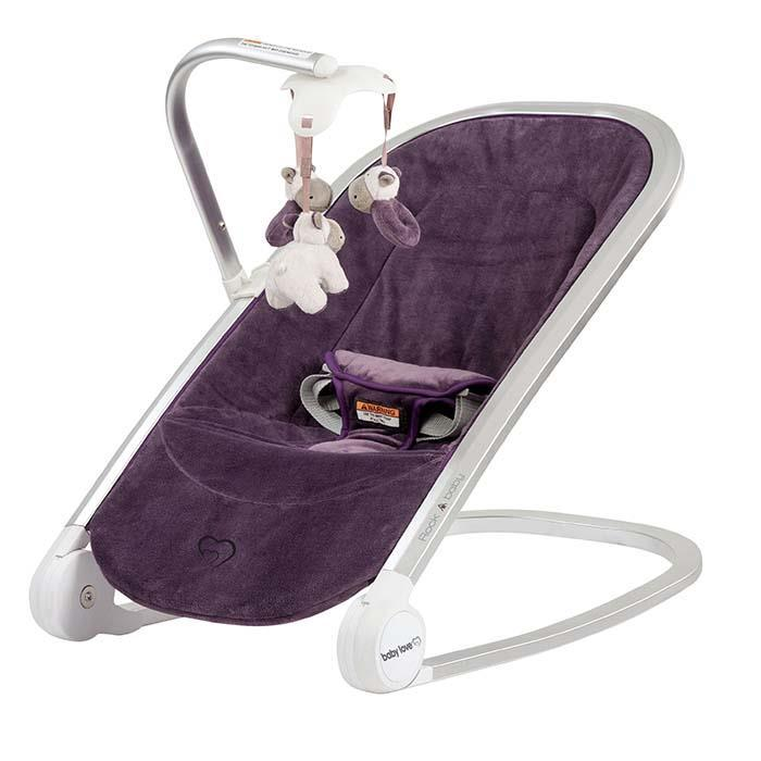 Baby Love Rock A Baby Rocker in Mulberry - Aussie Baby