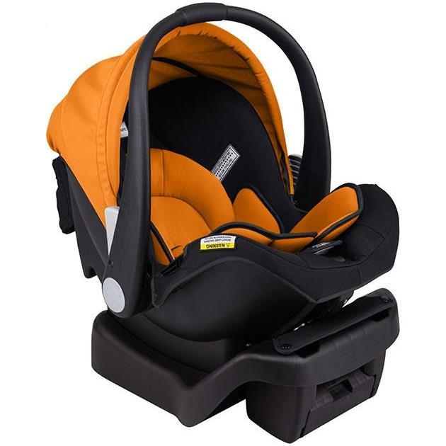 Arlo Infant Carrier and Car Seat - Black Orange