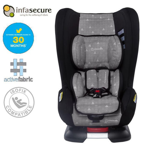 Infa Secure Kompressor 4 Treo Convertible Isofix Car Seat - Grey - Aussie Baby