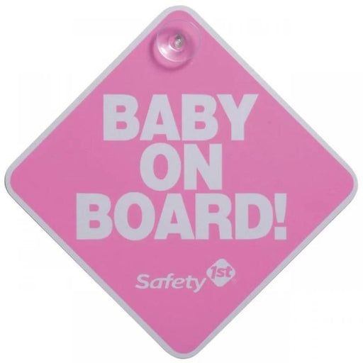 Safety 1st Baby On Board Sign - Pink - Aussie Baby