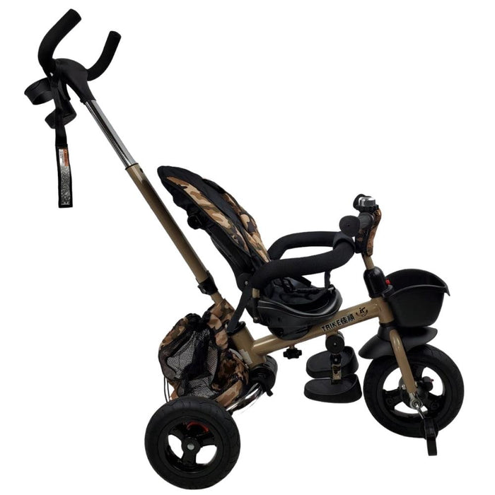 Deluxe Foldable Trike with Parent Control - Army