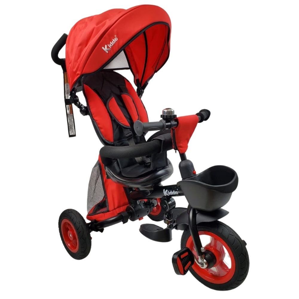 Aussie Baby Deluxe Foldable Trike with Parent Control - Red