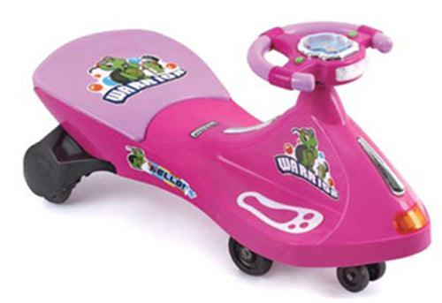 Turtle Warrior Kids Ride On Swing Car - Pink - Aussie Baby