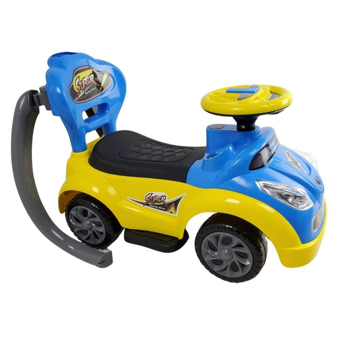 Junior Kids Super Racing Ride On Toy Car - Blue