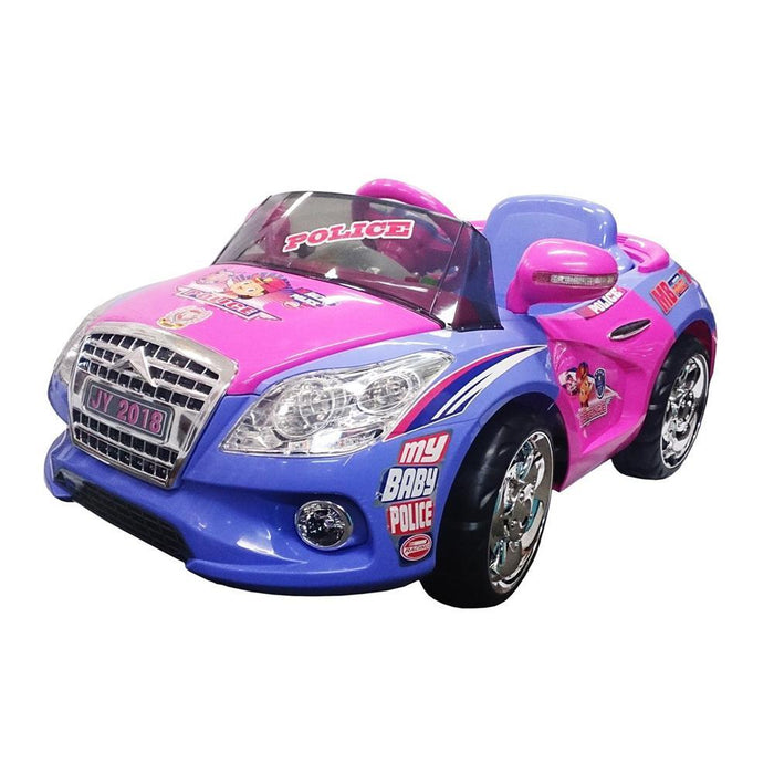 JY-2018 6V Police Car - Pink - Aussie Baby
