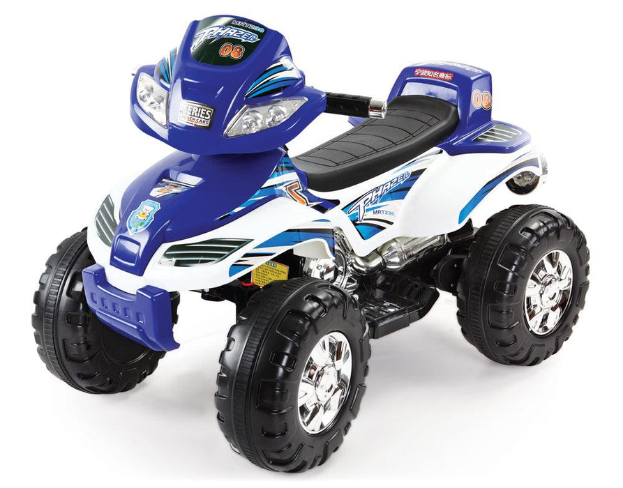 Mini Quad Bike 6V Battery Car - Blue - Aussie Baby