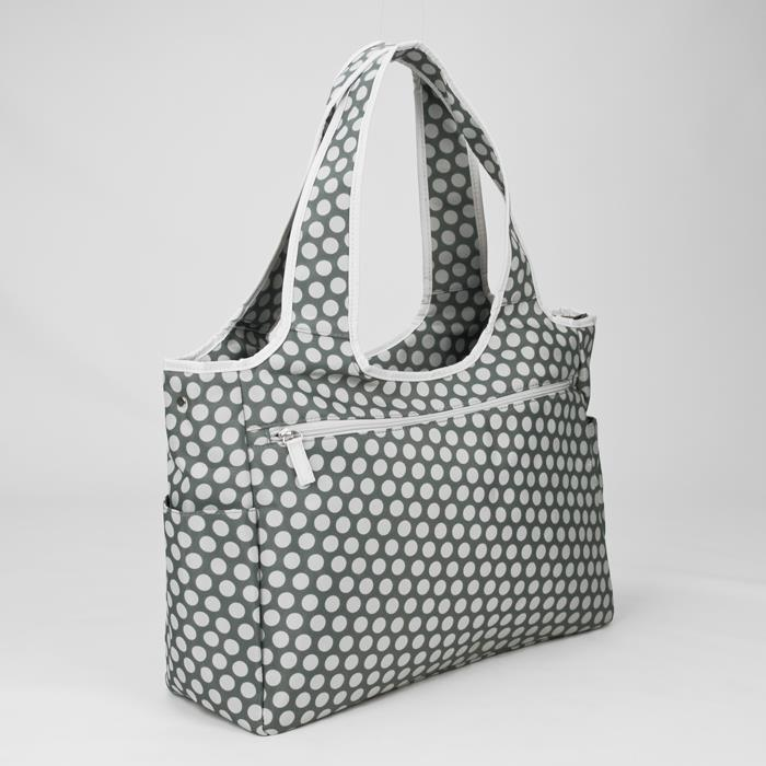 Bellotte Tote Nappy Bag - Grey White Dots - Aussie Baby