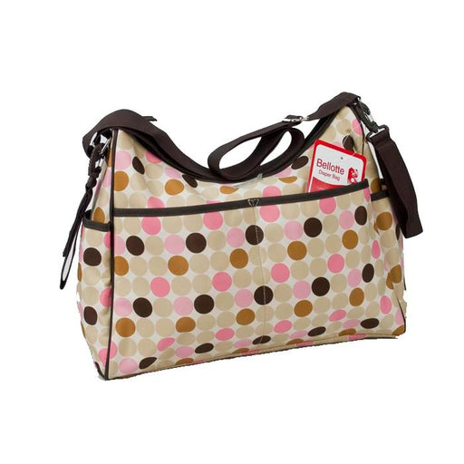 Bellotte Hobo Nappy Bag - Pink Circles - Aussie Baby