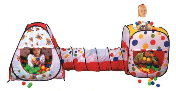 Wonder Castle Play Tent Ball House and Tunnel with 200 Soft Balls - Aussie Baby